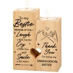 Heart-shaped Candlestick-Candle Valentines-Decoration Birthday-Wooden Candle craft