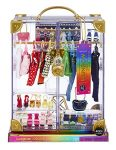 Rainbow High 574323EUC Deluxe Closet Playset – 400 Combinations Portable Clear Acrylic Toy Closet-31+ Fashion Forward Pieces and Doll Clothing